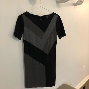 Color blocked fitted dress by A/X Armani Exchange